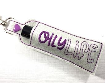Essential Oil Case -roller ball keyfob - keychain to hold essential oils - travel case for essential oil - essential oil holder -accessories