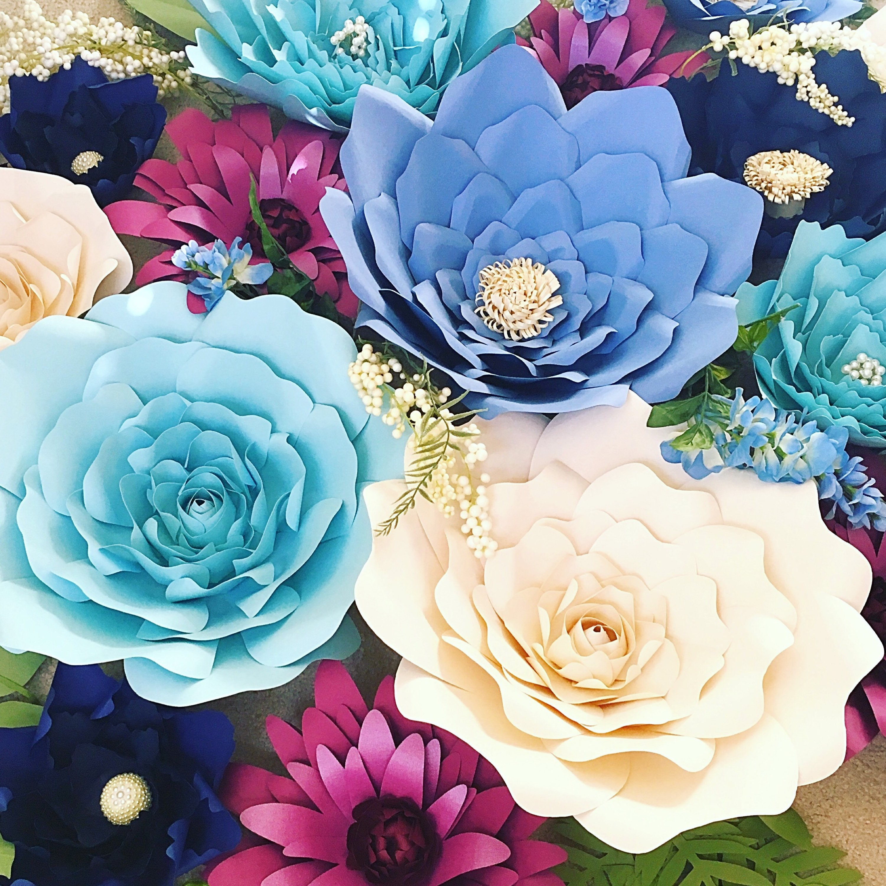 Paper Flower Backdrop Giant Paper Flowers Large Paper Flowers