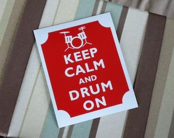 Keep calm drum on magnet