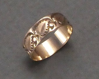 14K baby decorated keeper ring size 1   #3