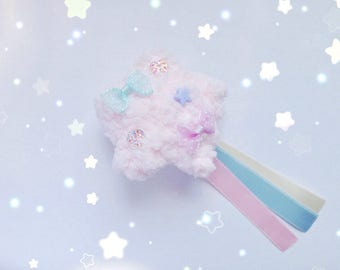 Kawaii Shooting Star Brooch/Badge, Fairy Kei, Sweet Lolita, Mahou Kei, Harajuku etc inspired