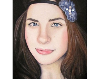 Blissful Beauty - Portrait Artist - By Mixed Media Artist Malinda Prud'homme