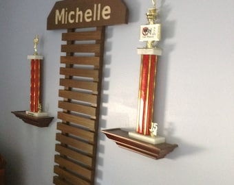 Martial Arts Display for 11 Belts & choice of 9 colors NOW IN HONEYCOMB