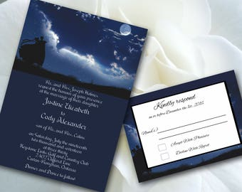 Wedding,Invitations, Sailor, Moon, Moonlight Love, Print Your Own