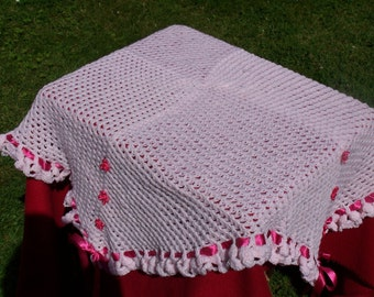 HAND CROCHETED Girly and Giggly Shawl. (Ready to Ship)
