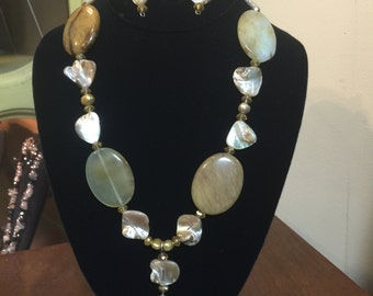 Rustic Yellow Necklace & Earring Set