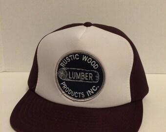 Vintage Rustic Wood Lumber Snapback Trucker Hat
