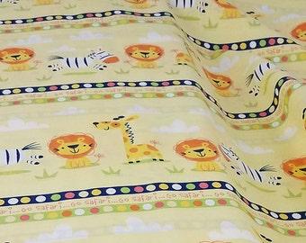 Go Safari - A E Nathan - Stripes with Zebras, Lions and Giraffes - item 1212