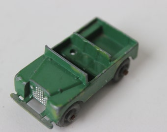 Vintage Lesney Army Green Jeep Car Die Cast Metal Made in England antique Lesney car jeep vintage collectible cars