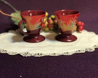 Expresso Liqueur Demittasse Cups (2) Harlequin Jester Musicians