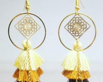 Spring summer wedding tassel earrings