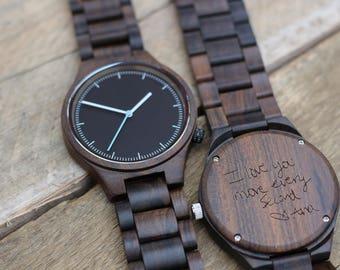Wood Watch, Wooden Watch, Engraved Mens Watch, Mens Watch, Personalized Watch, Mens Wedding Watches, Wood Watches for Men, Boyfriend Gift