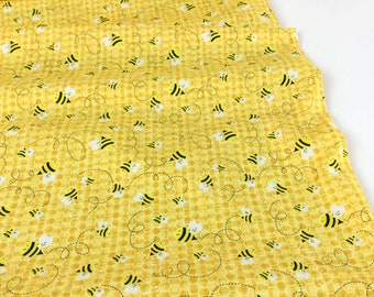 Beeloved Bees Honey Color ~ Timeless Treasures Collection, Cotton Quilt Fabric