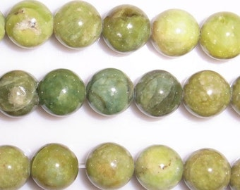 8mm Round Olivine Natural Bead Semiprecious Gemstone Bead String Beading 15''L Jewelry Supply Wholesale Beads