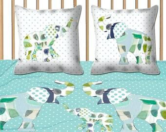 baby boy bedding, nursery bedding minky baby blanket elephant blanket crib bedding baby bedding aqua baby blanket swaddle blanket elephant