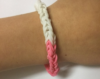 Half You Half Me Style Loom Rubber Band Bracelet-Fishtail Design (Free Shipping)