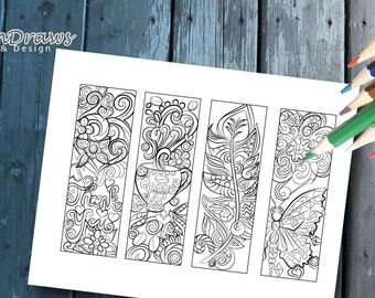 Colouring book marks- digital download to print and colour- laminate