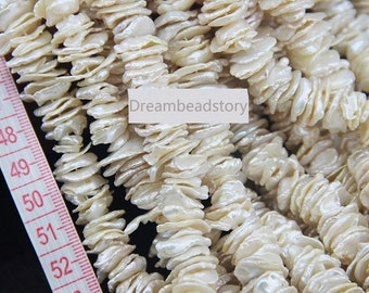 Center Drilled White Natural Pearl Petal Beads, 12-15mm Large Leaf Pearl Beads Wholesale (XMZ83)