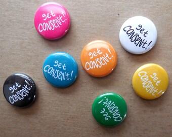 Get Consent Pins - Set of 7