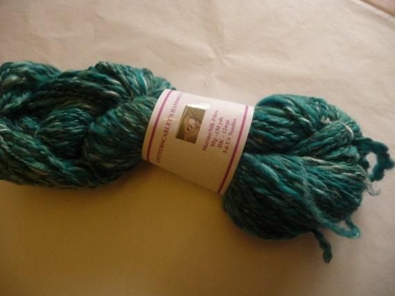 Turquoise Merino/Silk Handspun Yarn 95g/150yds