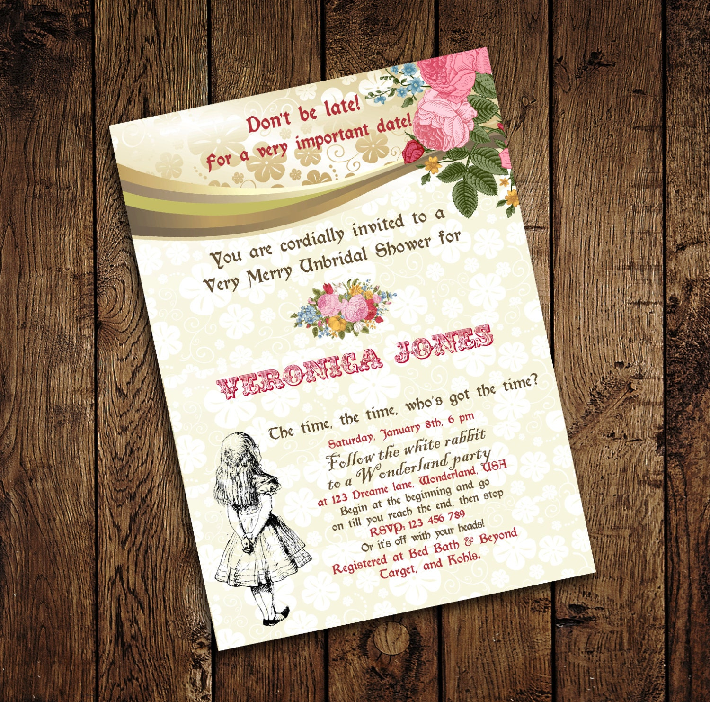 Alice in wonderland mad hatter bridal shower tea party zoom filmwisefo Images