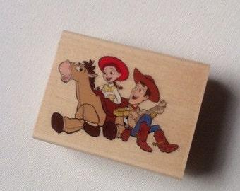 CIJ SALE Toy Story Woody Jessie Bullseye // Rubber Stamp // EK Success // Disney Pixar wood mounted rubber stamp // Ready to Ship