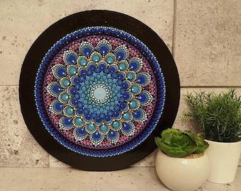 Mandala - Dalia bleue