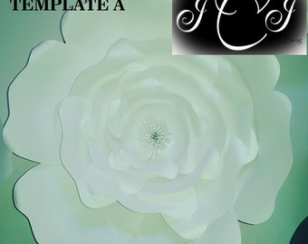 Jumbo Paper Flower Template