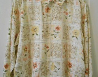 Alfred Dunner Women's Jacket Floral Print Plus Size by Nanas Vintage Shop on Etsy