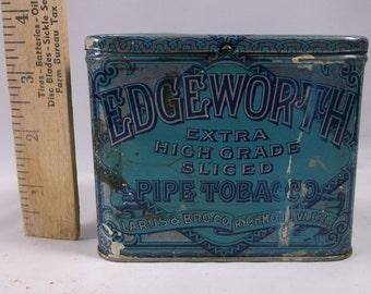 Antique Edge Worth Pipe tobacco box tin.epsteam