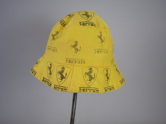 ferrari bucket hats merchandise hat cap view red caps back and