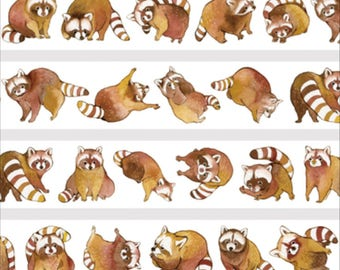 1 Roll Limited Edition Washi Tape: Raccoon