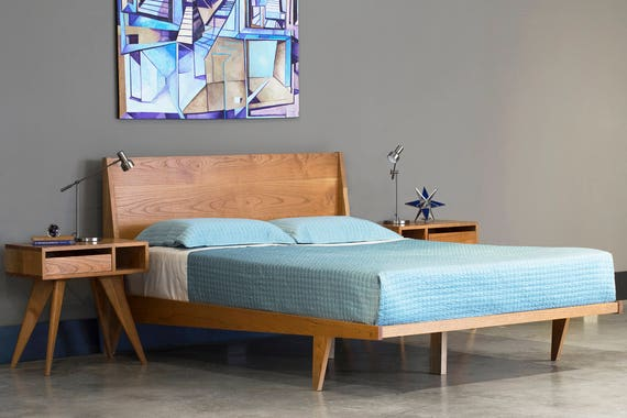 salavaged bed product rustic modern platform soft wood contemporary design reclaimed
