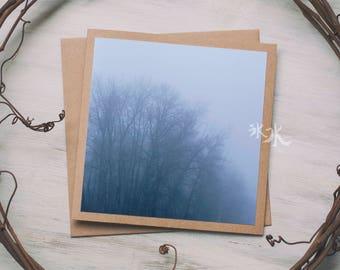 Nature landscape Photo Card - Misty morning forest