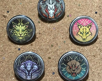 Kingdom Hearts Unchained X Union Buttons
