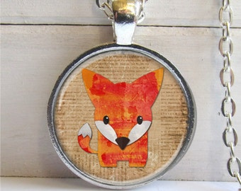 Fox Pendant, Cute Fox Necklace, Fox Jewelry