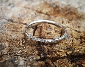 14K White Gold Wedding Band Women White Gold Wedding Bands Women White Gold  Ring 14K White Gold Band Diamond Wedding Ring Gold Wedding Rings