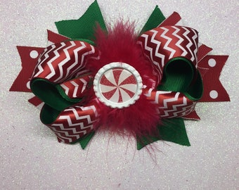 Peppermint Holiday Bow