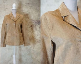 70s Suede Jacket, Suede Coat Womens, Vintage Leather Jacket, Leather Coat, Festival Clothing, Size S, Size M, Small Medium