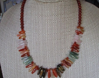 Desert Rose Trading Colored Agate Necklace