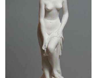Helen of Troy Alabaster Stone Statue Sculpture Maiden Figurine Handmade 9.25in - 23,5 cm **Free Shipping & Free Tracking Number**