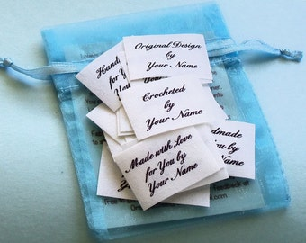 Qty 36 - 1 x 1 1/2 Inch White Custom Clothing Labels Sew On Personalized Name Tags
