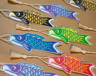 Koinobori Papercut Bookmark