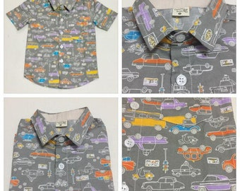 Hawaii boy 's car Shirt -100% cotton