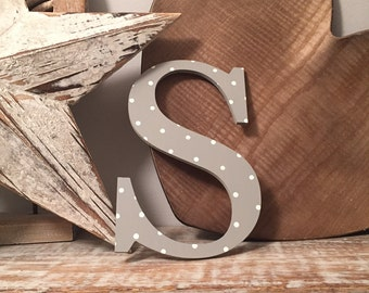 Roman Decorative Wooden Wall Letter 'S' - Any Colour - 20cm, 9mm thick