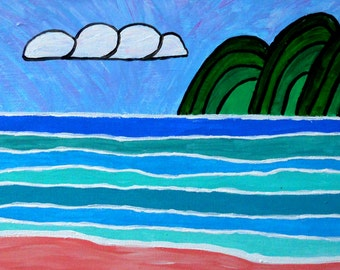 Whimsical Kauai Original Painting
