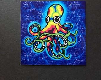 Psychedelic Octopus Magnet