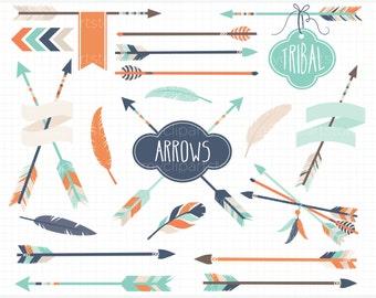 Clipart - Tribal Arrows (#3) / American Indian - Digital Clip Art (Instant Download)