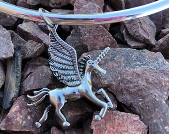 Unicorn Choker , Unicorn Necklace , Silver  Unicorn , Unicorn Jewelry , Unicorn Birthday Jewelry, Gift for her