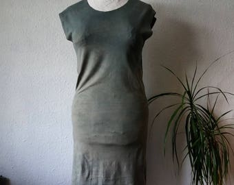 Grey dress, organic clothing, womens clothes, earthy dress, boho dresses, tshirt dress, tunic style dress, festival clothes, eco garments